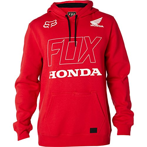Honda Hoody Sweatshirt (Fox Racing Men's Fox Honda Hoody Pullover Sweatshirts,Large,Dark Red)