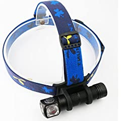 H03-RC magnetic rechargeable headlamp (Flood Light) LED: CREE XM-L2 U4  Max output: ANSI 1000 Lumens / 1200 LED Lumens Max runtime:Few months Max beam distance: 123 meters Max peak beam intensity: 3800cd Waterproof: IPX-8 Impact resistant: 1 ...