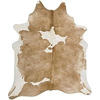 Superior Cowhide Skin Rug lighter Brown Caramel Large Size