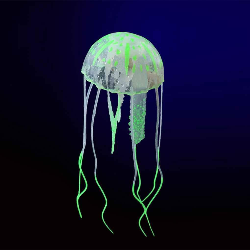fgyhtyjuu Resplandeciente Ornamento Submarino Efecto Artificial Medusas del Acuario Acuario Decoración Mini: Amazon.es: Hogar