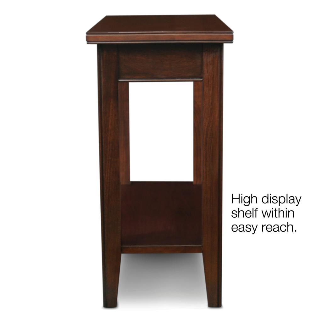 Leick Laurent Narrow Chair Side End Table Home