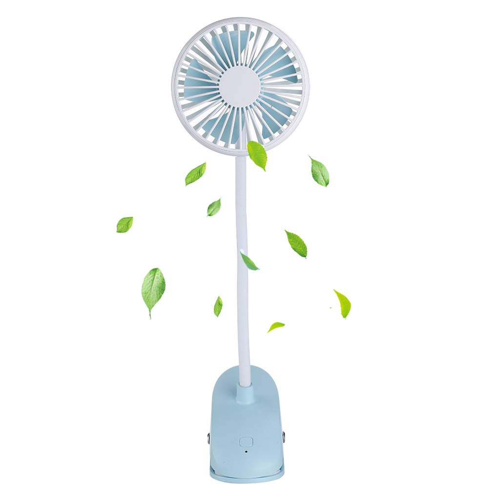 TianNorth Clip Fan Rechargeable Battery Operated Clip on Mini Desk Fan for Baby Strollers,Home, Office, Dorm, Outdoor (Blue)