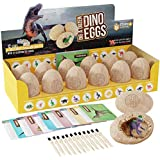 Dig a Dozen Dino Eggs Kit - Break Open 12 Unique Dinosaur Eggs and Discover 12 Cute Dinosaurs - Easter Archaeology Science STEM Gift (Dinosaurs)