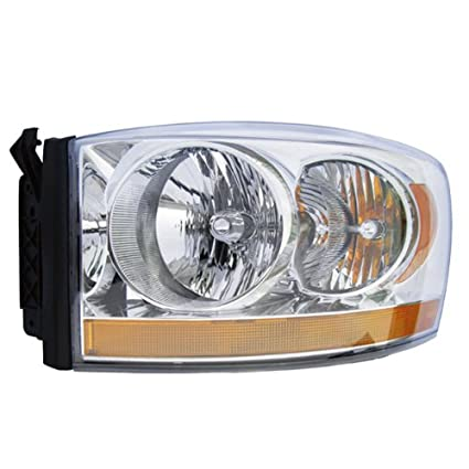 06 Ram Truck Headlight Headlamp Chrome Housing Head Light Lamp Left Driver Side