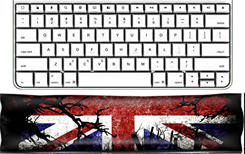 Luxlady Keyboard Wrist Rest Pad Office Decor Wrist Supporter Pillow IMAGE ID 31510476 Halloween Festival and United Kingdom Flag Background
