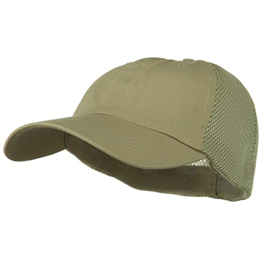 fc89f490f Big Size Summer Twill Mesh Flexible Fitted Cap - Khaki (For Big Head)