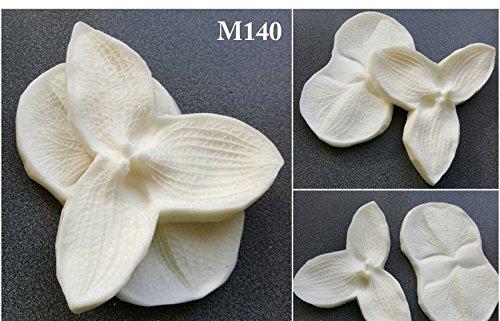 Foam Flower Making Polyresin Mold 140 big!!! 10cms x 6cms set of 2