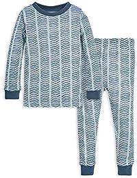 Unisex Pajamas, Tee and Pant 2-Piece PJ Set, 100% Organic Cotton