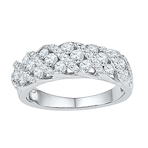 Jewel Tie Size - 4-10k White Gold Diamond Wedding Band for sale  Delivered anywhere in USA