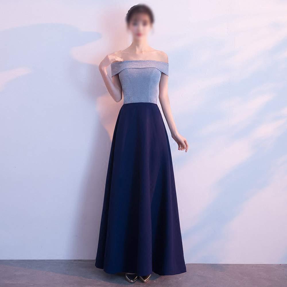 Pro-BikeUS Womens Elegant Slim Fit One Shoulder Party Evening Maix Dress