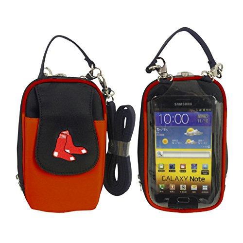 Charm14 MLB Boston Red Sox Crossbody Cell Phone Purse XL - Fits All Phones ()