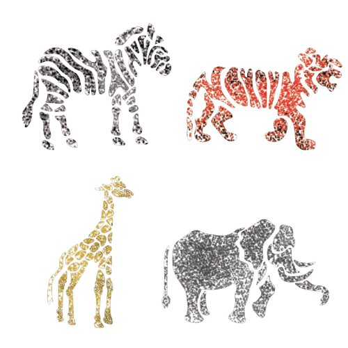 (J BOUTIQUE STENCILS Medium size Template Animals Zoo Stencil for Crafting DIY Room decor Wall art furniture)
