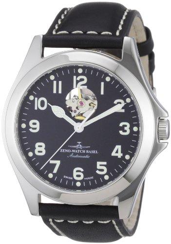 Zeno Watch Basel Men's Automatic Watch Ghandi 8112U-a1 with Leather Strap
