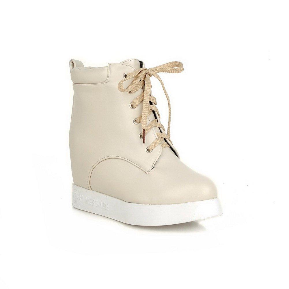 AdeeSu Ladies Casual Platform Fashion Riding Boots Imitated Suede Boots