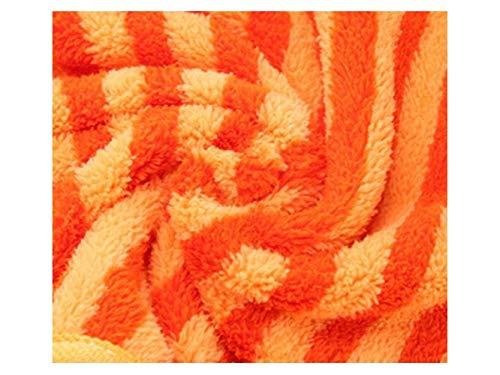 Toalla de Agua coralina del paño Grueso y Suave de la Toalla de Mano Que cuelga para el Cuarto de baño de la Cocina Cocina de Limpieza (Color : Orange, ...