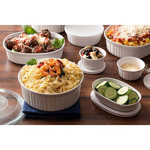 Corningware French 20-Piece Oven-To-Table Bakeware Set, Dishwasher, Refrigerator, Freezer and Microwave Safe, White by CorningWare (Image #2)