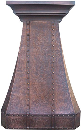 Ventilation Downdraft Steel Stainless (Custom Copper Kitchen Range Hood with High Airflow Motor Sinda H30LTR)