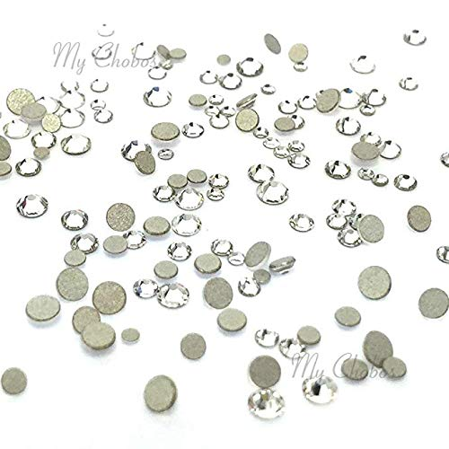 - Crystal (001) Clear Tiny Small Sizes Mixed with Swarovski 2058 Xilion Rose flatbacks Sizes ss3, ss5, ss6, ss7, ss9, ss10 No-Hotfix Rhinestones Nail Art 144 pcs (1 Gross)