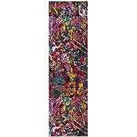 Safavieh Fiesta Shag Collection FSG364B Fuchsia Pink and Multi Runner (23 x 8)
