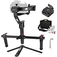 MOZA Air 3 Axis Handheld Gimbal Stabilizer with Dual Handheld Grip 3 Axis 360 Degree Unlimited Rotation for Cameras Between 1.1Lb-5.5Lb Sony A7 Series Panasonic GH5 GH4 GH3 BMPCC Canon EOS 5D Mark IV