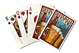 Portland, Oregon - Beervana Vintage Sign (Playing Card Deck - 52 Card Poker Size with Jokers)