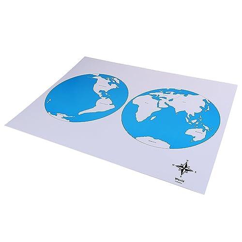 MagiDeal Montessori Géographie Etiquetée Contrôle Carte Jouet Pour Bébé Enfants - 5 Types(Carte du Monde, Carte de l'Europe, Carte de l'Afrique,Carte du Canada ,Carte des États-Unisï