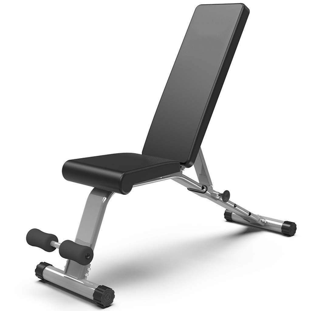 ダンベルベンチ屋内調節可能なあおむけに座るフィットネス機器多機能補助あおむけボードフィットネスチェア痩身フィットネストレーニング機器  Black B07KQNPDHN