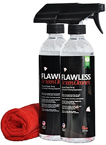 Price comparison product image Screen Cleaner - 16 Oz Economy Spray Bottle with Microfiber Cloth by Clean Flawless | LCD, LED, HDTV Displays, Computer, Tablet, Phone | Streak Free, Fast Drying, Solution for Gadgets and Electronics