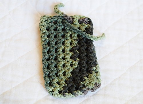 (Crocheted Cotton Soap Bag, Saver, Eco-friendly Pouch or Sack )