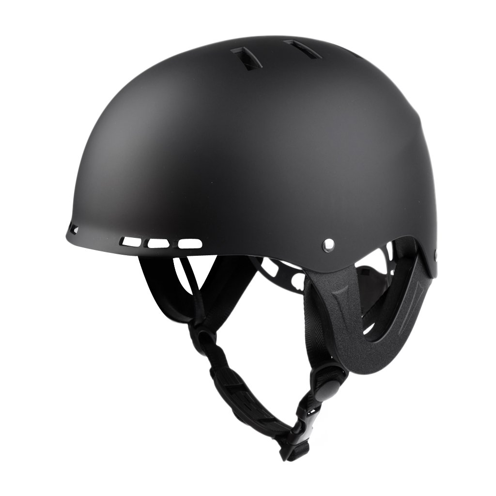 MagiDeal Adjustable Water Sports Safety Helmet Kayak Canoe Paddleboard Skate Ski Surf Dumb Black M