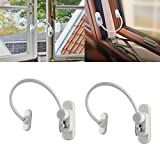 AUTOUTLET 2PCS Safety UPVC Window Restrictor Cable Lock Wire Kids Child Security locks Locked & Unlocked + Release Key