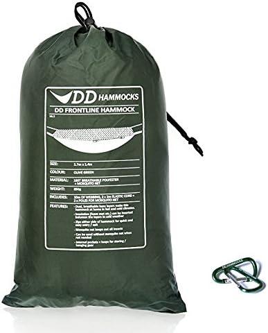 DD Frontline Hammock フロントラインハンモック & Mini Karabiners 2個付きセット [並行輸入品] Olive 緑