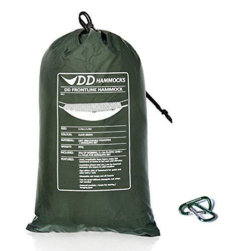 DD Frontline Hammock フロントラインハンモック & Mini Karabiners 2個付きセッ [並行輸入品] B07D7F4P72 Olive green Olive green