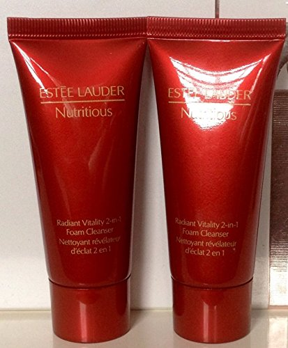 2x Estee Lauder Nutritious Radiant Vitality 2-in-1 Foam Cleanser Each Is 1 Oz 30 Ml (2oz/60ml Total)