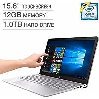 HP Pavilion 15 15.6 FHD Touchscreen Laptop Computer, Intel Core i5-7200U 2.5 GHz, 12GB RAM, 1TB HDD, 2GB NVIDIA GeForce 940MX Graphics, USB Type C, HDMI, B&O Play Audio, Backlit Keyboard, Windows 10
