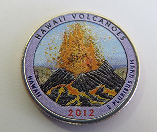 2012 Various Mint Marks Hawaii Volcanoes National Park Colorized Quarter Choice Uncirculated