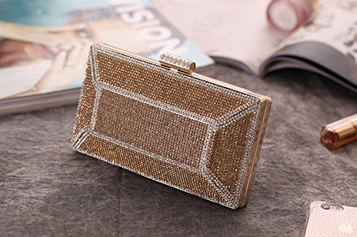Evening KERVINFENDRIYUN Gold Bag Craft Handbag Banquet Clutch Silver Diamond Purse Dress Ladies Bag Bag Color w8qH1