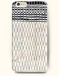 SevenArc Aztec Indian Chevron Zigzag Pattern Hard Case for Apple iPhone 6 Plus 5.5' (2014) Black Geometric Net Web...