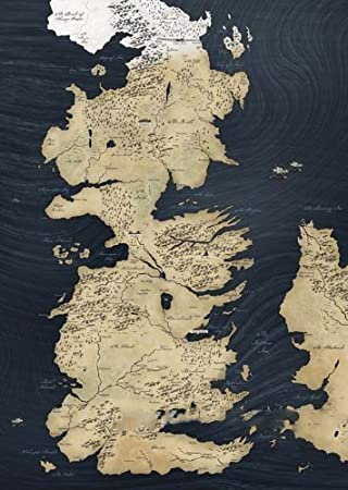 A Song of Ice and Fire Westeros Map Canvas,Game of Thrones Westeros ...