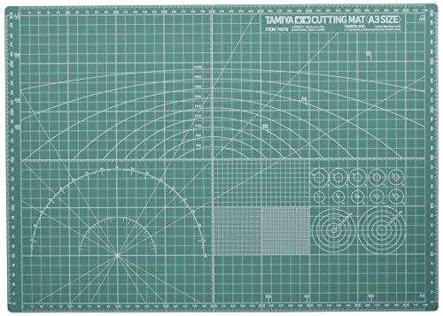 (Tamiya Kraft Tool series No.76 Cutting Mat A3 size/Green Plastic model Tools for 74076)