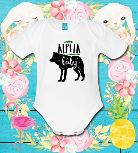 Baby Bodysuit Organic Cotton Eco Friendly Onesie Alpha Baby Wolf Gift For Baby Boy Or Girl