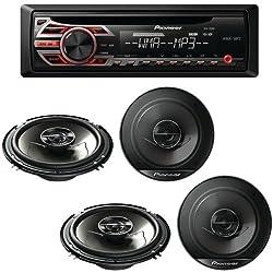 Pioneer Receiver, Indash Receiver, 6.5 Speakers, Coaxial Speakers Deh-150mp