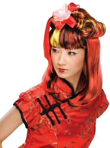 Dragon Geisha Halloween Costume (Rubie's Costume Dragon Lady Wig, Red, One Size)