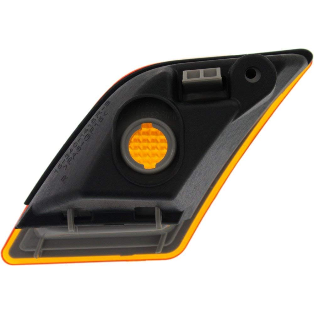 Side Marker compatible with Mercedes Benz C-Class 08-11 C63 12-15 Front Lens and Housing Right and Left Side