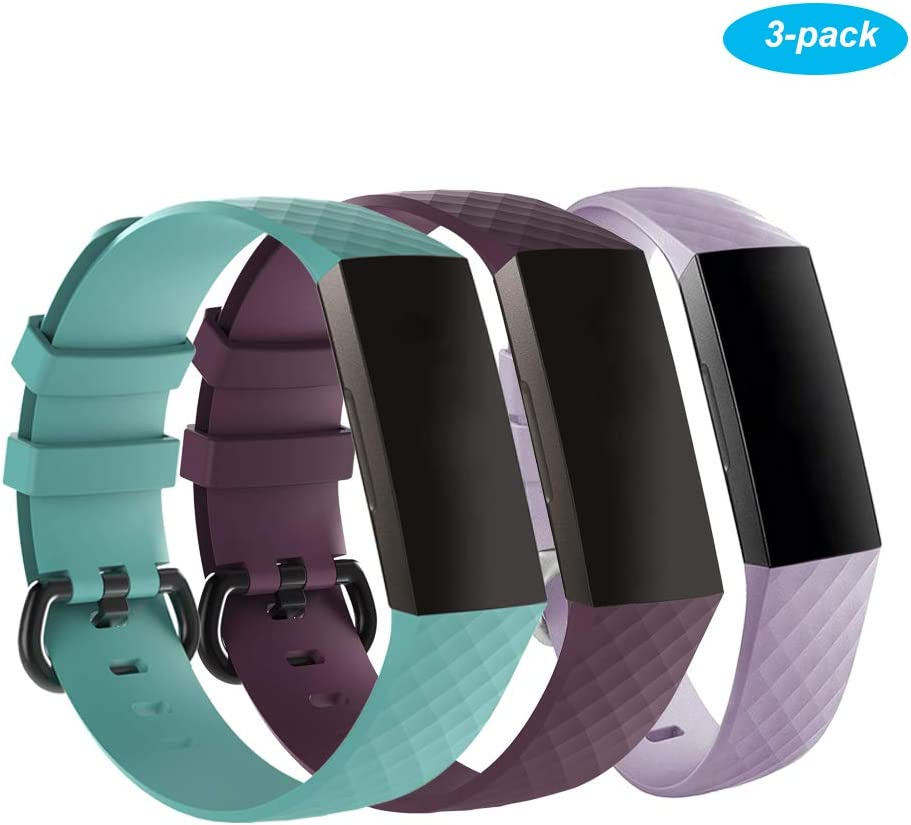 Adjustable Sport Strap Smartwatch Fitness Wristbands with Secure Metal Buckle for Women Men Kids Ohderii Replacement Bands Compatible for Fitbit Alta//Alta HR//Ace 3 Pack