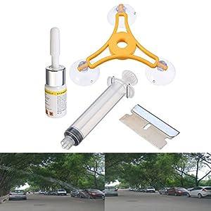 Audew 1 Set Kit de Réparation Outils de Pare-brise Glass Bonnette Instrument WRK1500808A