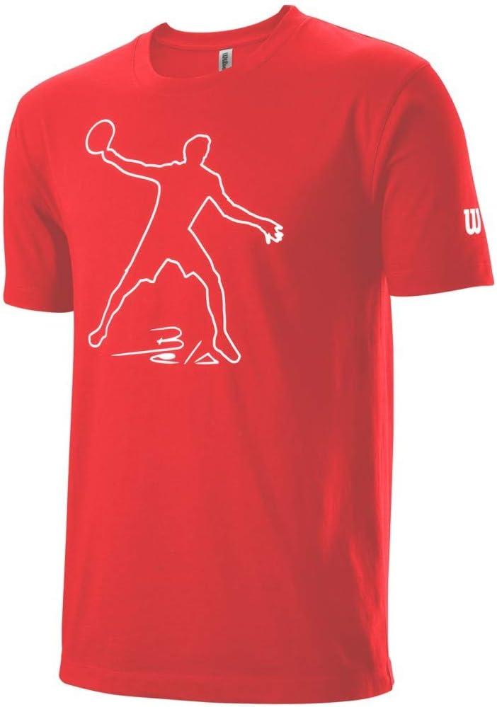 WILSON Camiseta Men's Bela Tech Red