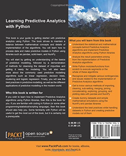 Learning Predictive Analytics with Python: Gain practical
