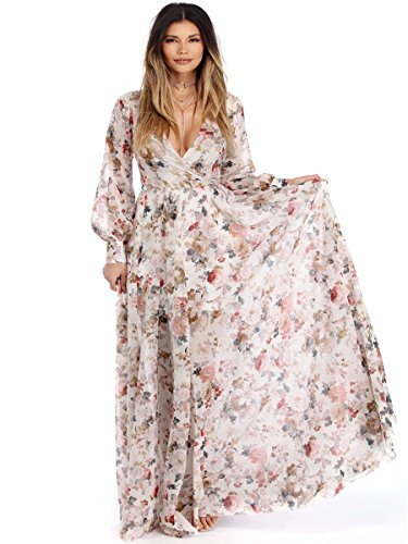 2017 Vintage Floral Print Boho Maxi Dress Plus Size - 8