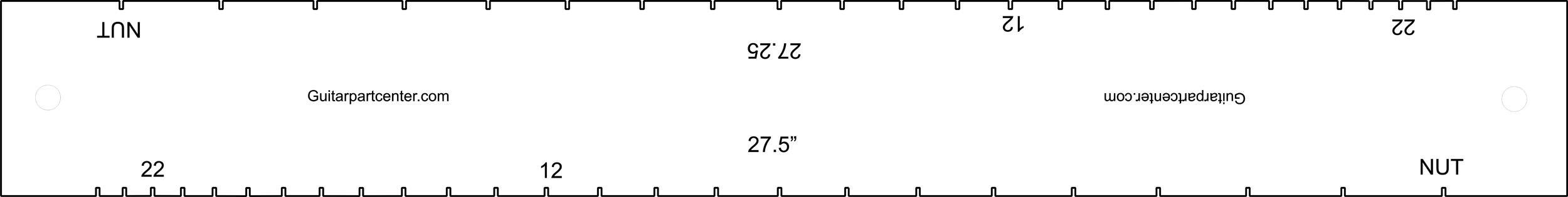 Dual Scal Fingerboard Slotting Template - 27.25'' & 27.5''